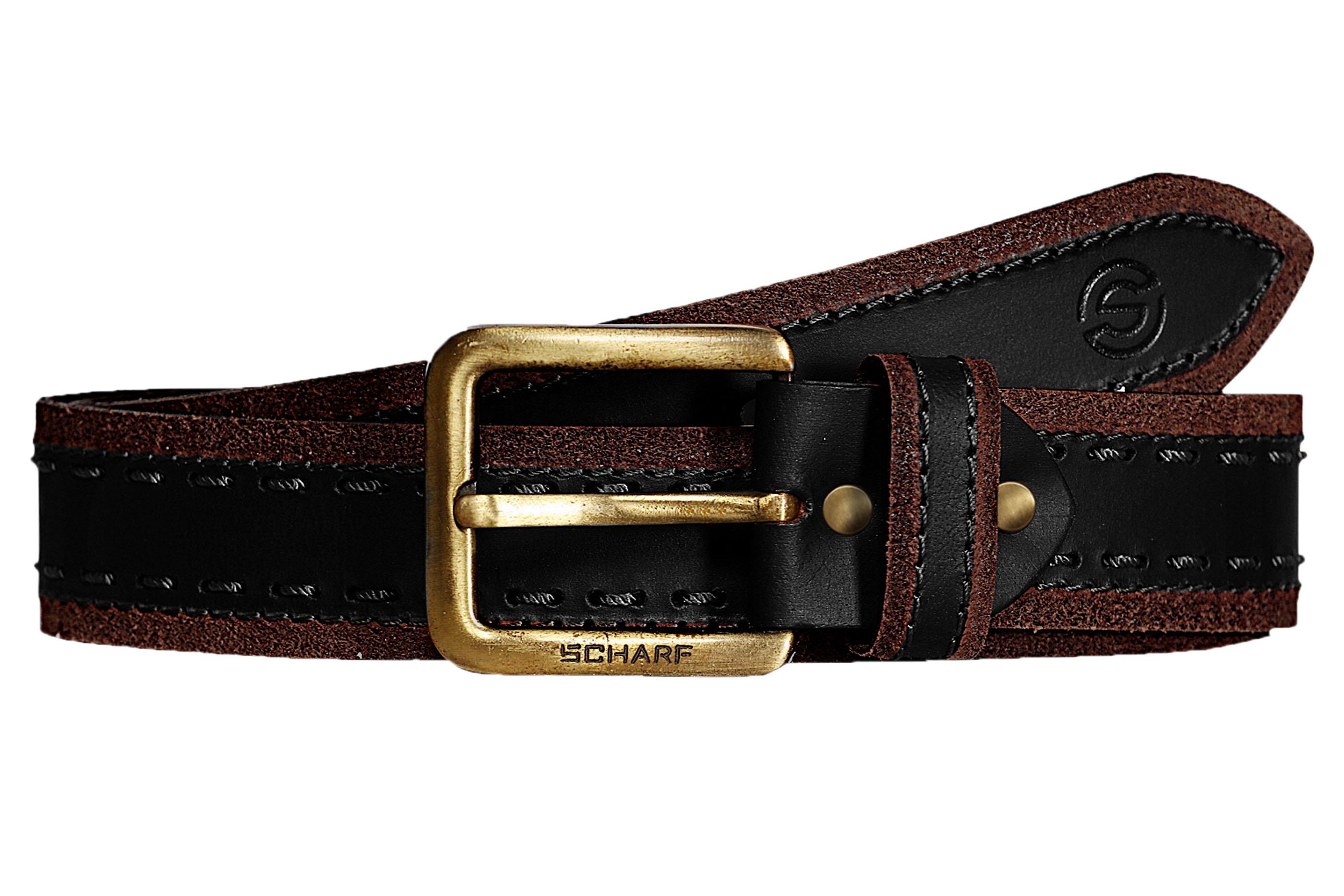 SCHARF | SCHARF Casual Leather Men's Belt MBMC26-Tan/Brown