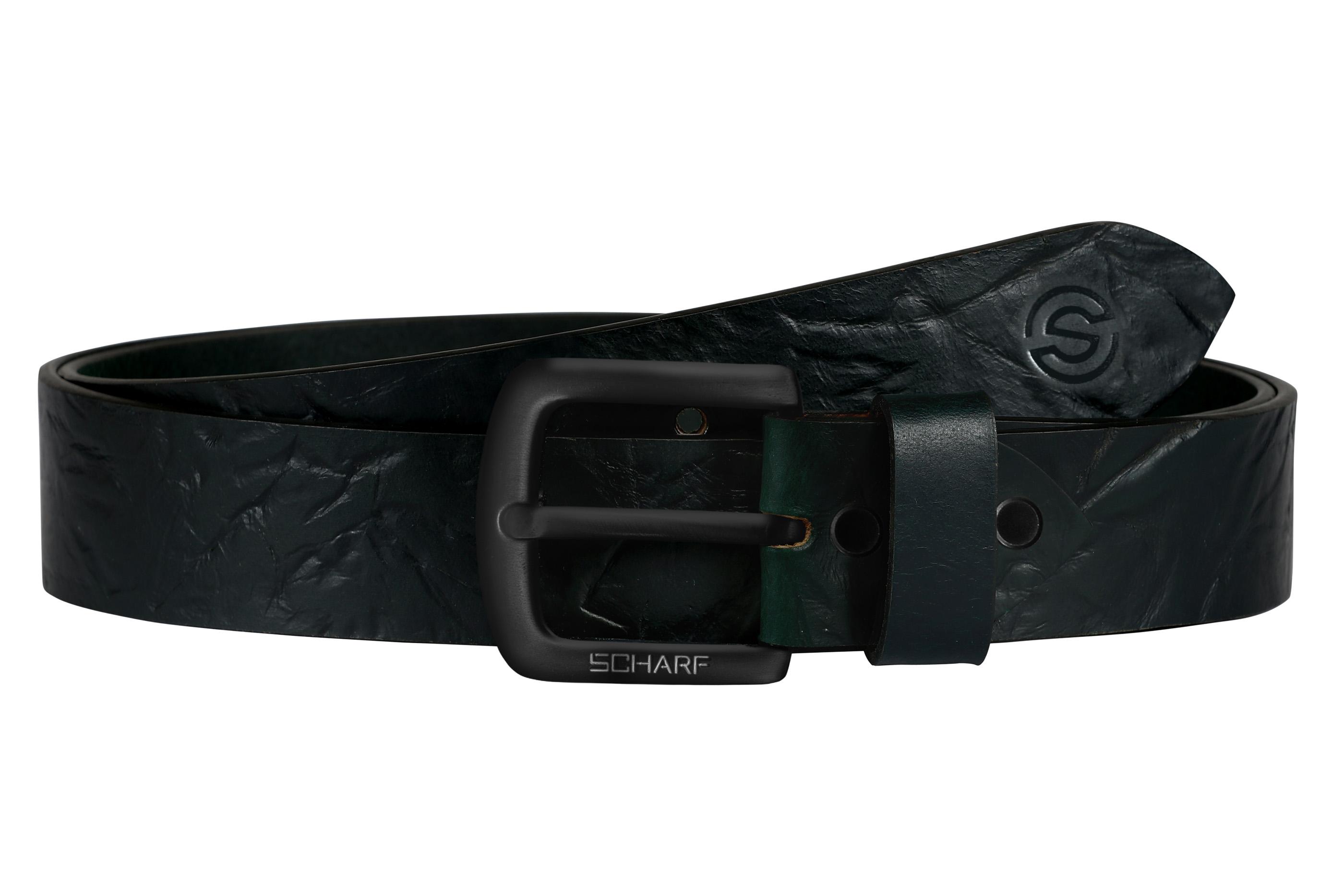 SCHARF | SCHARF Casual Leather Men's Belt Green
