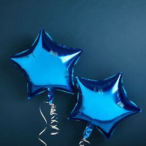Blooms Mall | Party decoration Blue Foil star balloon ( Pack of 2 Pcs.)