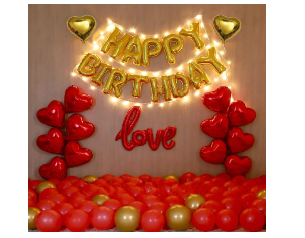 Blooms Mall | Happy Birthday love precious combo - Pack of 85 Pcs.