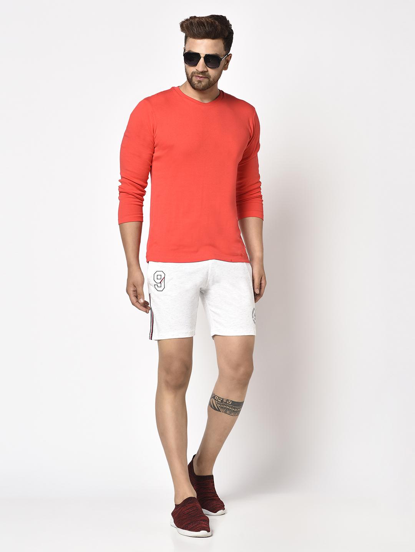 OCTAVE | Men WHITE MELANGE Shorts