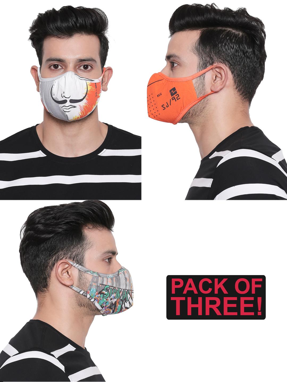 Spykar | Assorted Designer Face Mask - Set of 3
