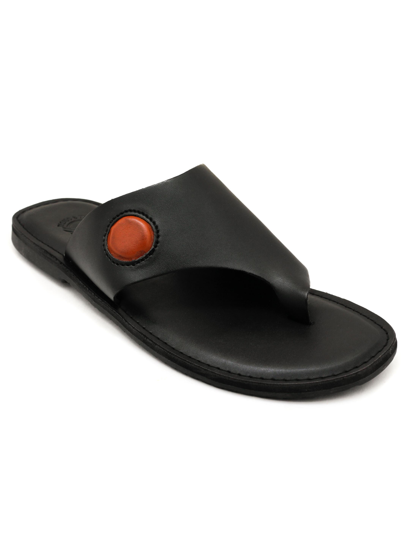 Trends & Trades   Mens Black Toe Loop Casual Flat Sandals