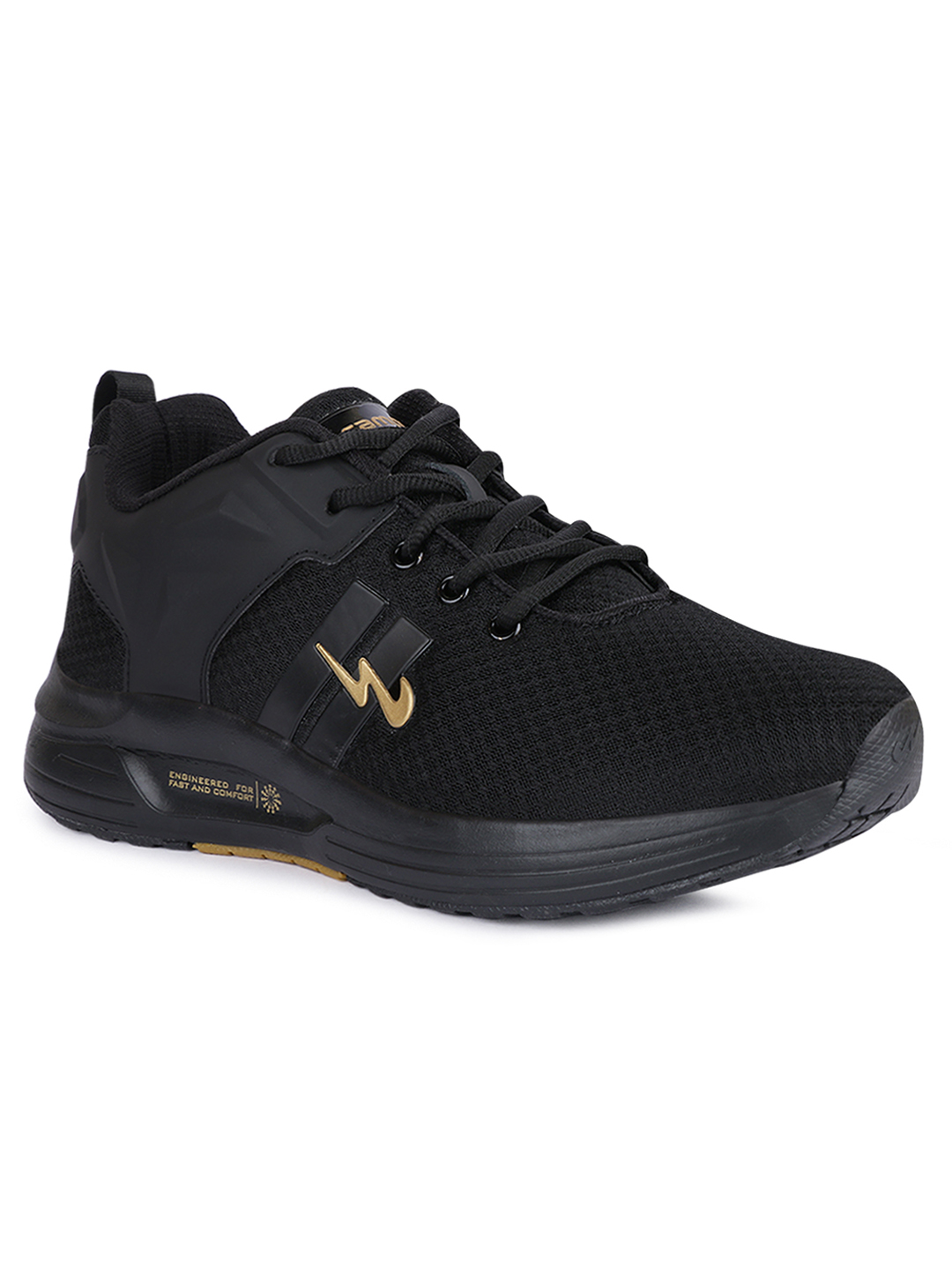 Campus Shoes | Black Sparta Running Shoes