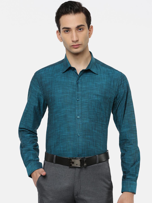 Ramraj Cotton   RAMRAJ COTTON Men's Dark Cyan Classic Shirt