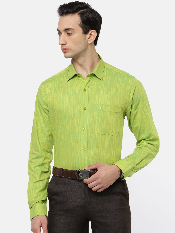 Ramraj Cotton   RAMRAJ COTTON Men's Yellow Green Classic Shirt