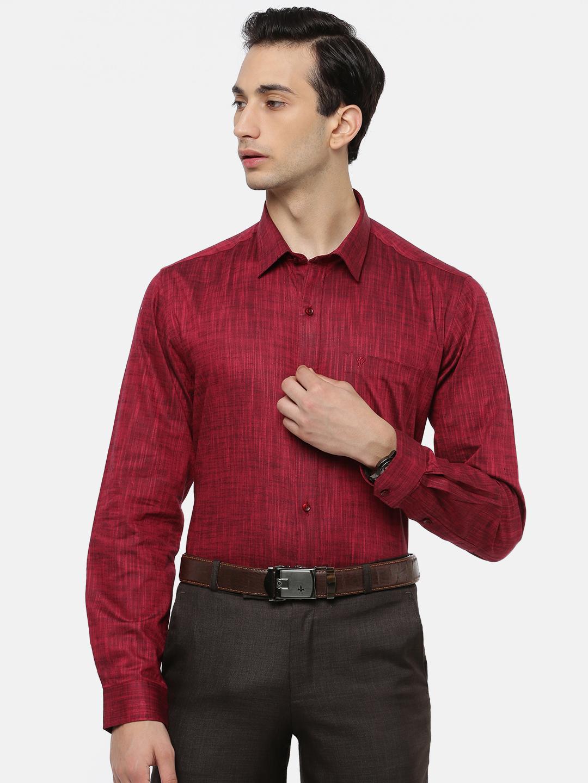 Ramraj Cotton | RAMRAJ COTTON Men's Strong Red Classic Shirt