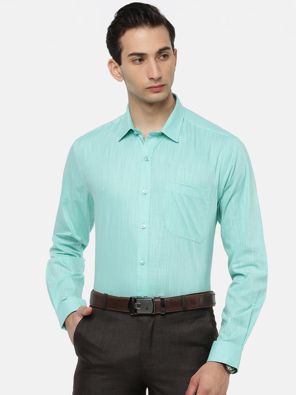 Ramraj Cotton   RAMRAJ COTTON Men's Vivid Cyan Classic Shirt