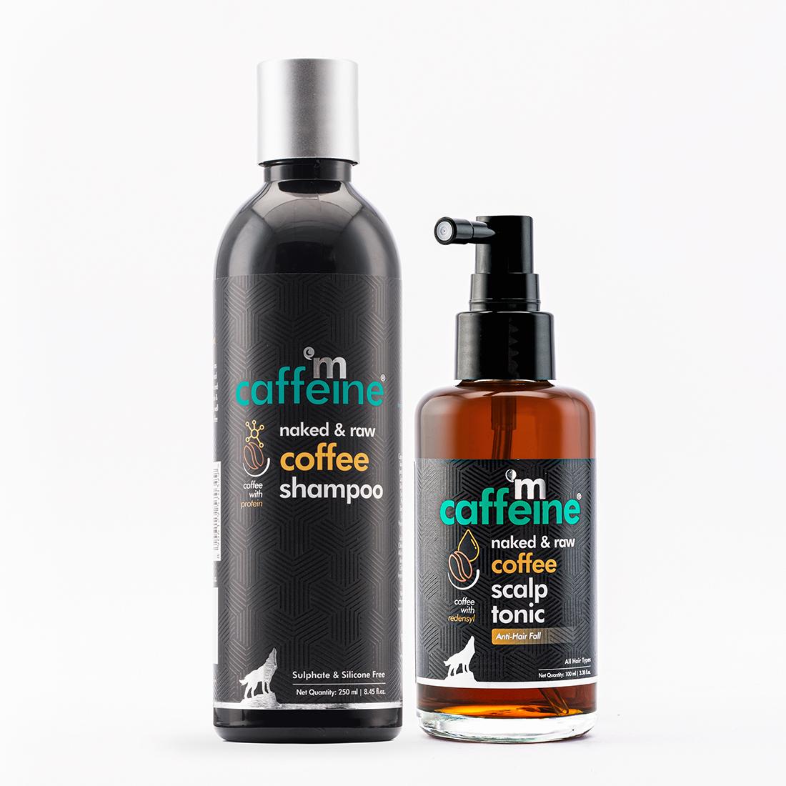 MCaffeine | mCaffeine Coffee Hair Boost & Hair Fall Control Kit | Shampoo, Scalp Tonic