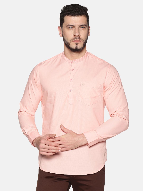 Chennis | Chennis Men's Pink Casual Cotton Kurta