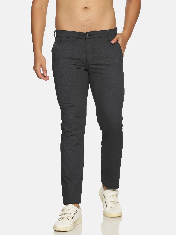 Chennis   Chennis Men's Casual Black Trouser