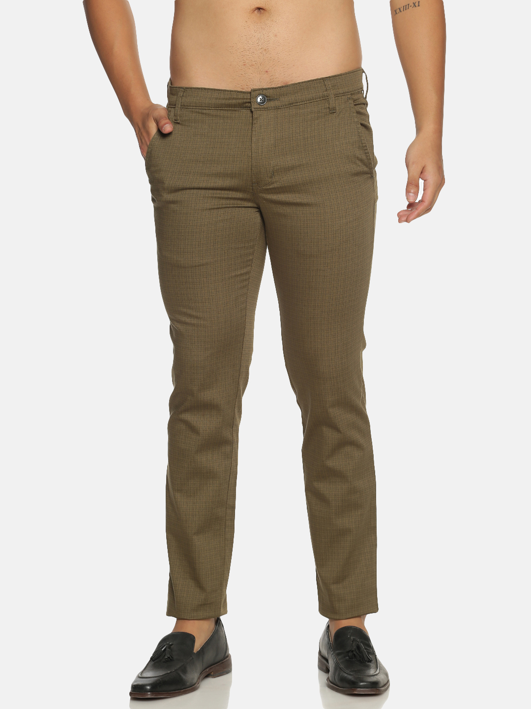 Chennis | Chennis Men's Casual olive Trouser