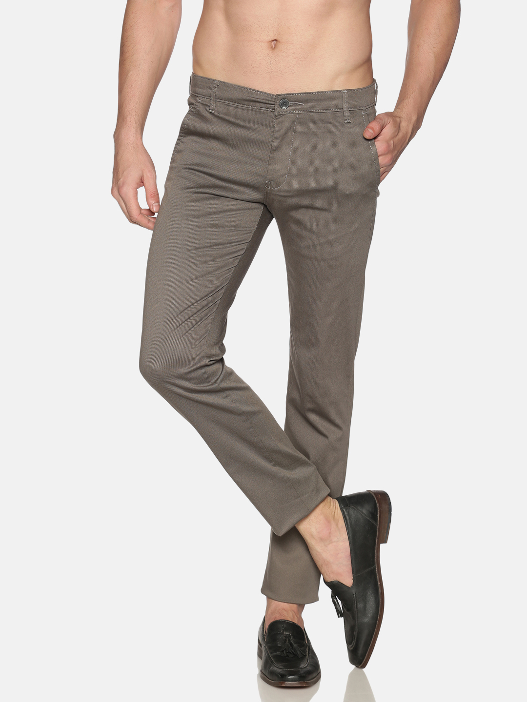 Chennis | Chennis Men Casual Grey Trousers