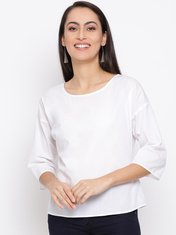 DRAAX fashions | DRAAX FASHIONS Women White Belt  sleeve top