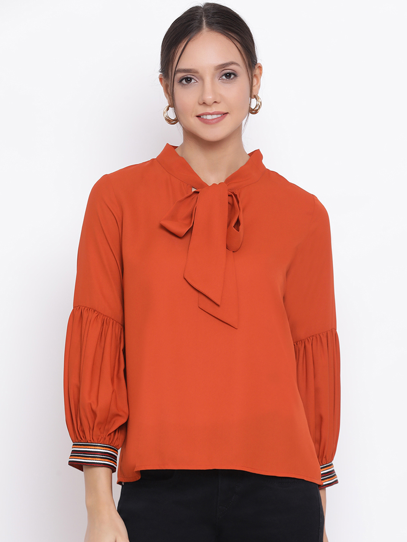 DRAAX fashions | DRAAX FASHIONS Women Brown  Solid Top