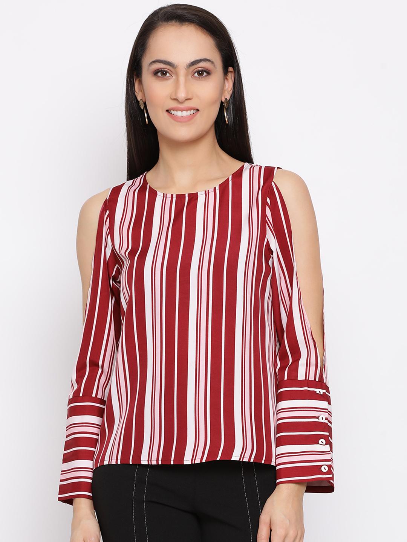 DRAAX fashions | DRAAX FASHIONS Women Striped full sleeve cut Top