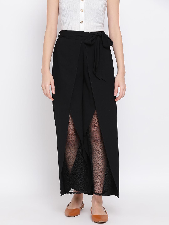 DRAAX fashions | DRAAX FASHIONS Women Black full Palazzo