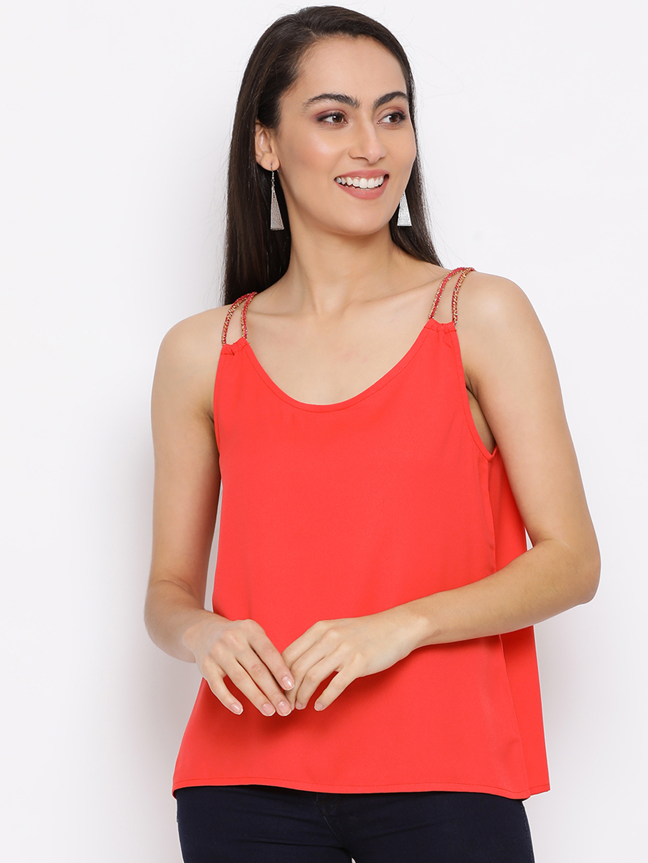 DRAAX fashions | DRAAX FASHIONS Women red embellished Top