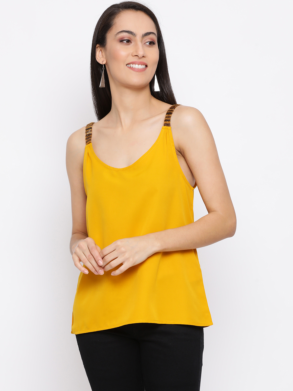 DRAAX fashions   DRAAX FASHIONS Women Yellow solid Top