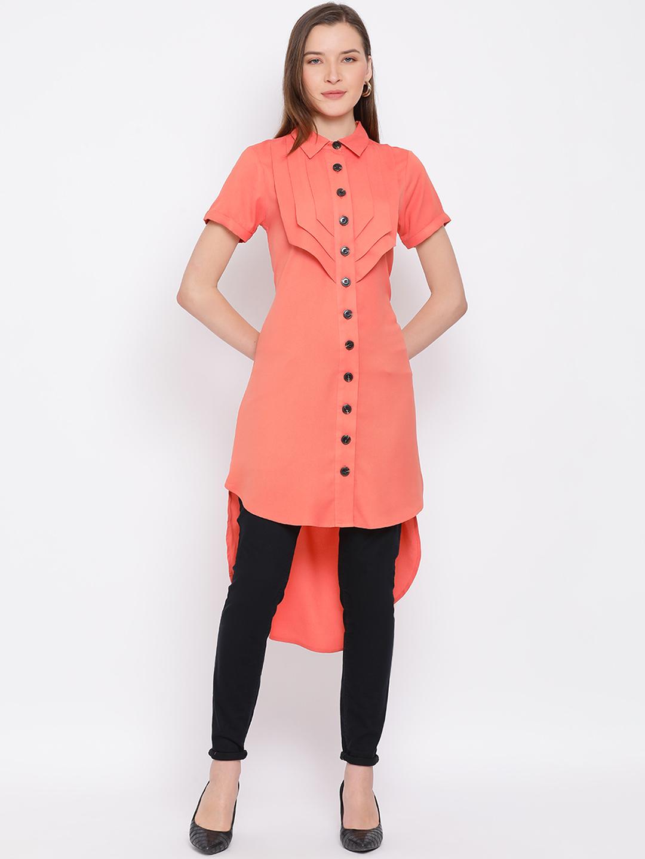 DRAAX fashions | DRAAX FASHIONS Women Orange  Embellished A-Line Dress