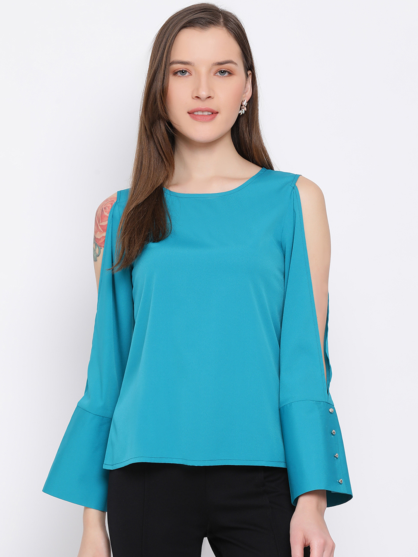 DRAAX fashions   DRAAX FASHIONS Women Blue Top