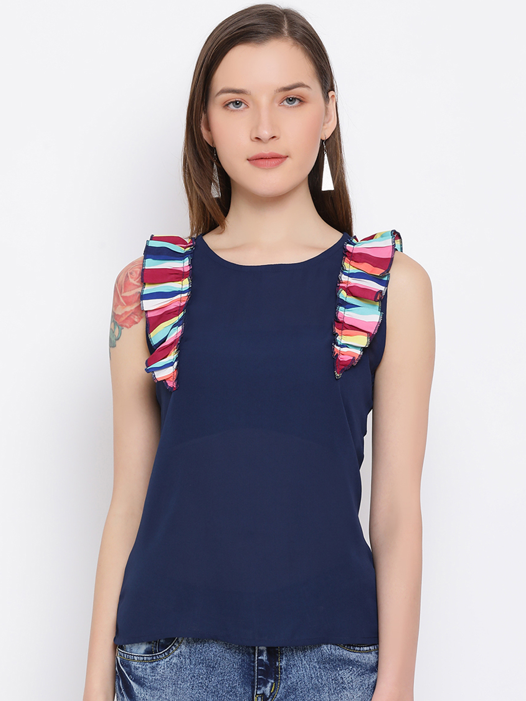 DRAAX fashions   DRAAX FASHIONS Women Bluet sleeve less top