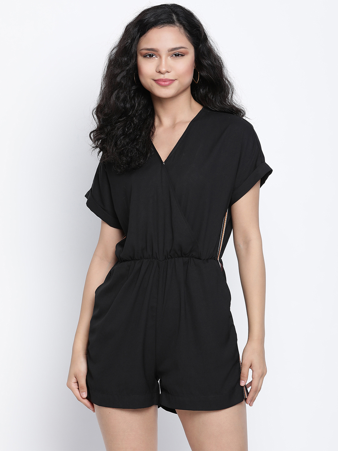 DRAAX fashions | DRAAX FASHIONS Women Black embellished Fit and Flare Jumpsuit