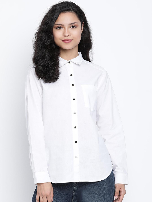 DRAAX fashions | DRAAX FASHIONS Women White Top With Yoke