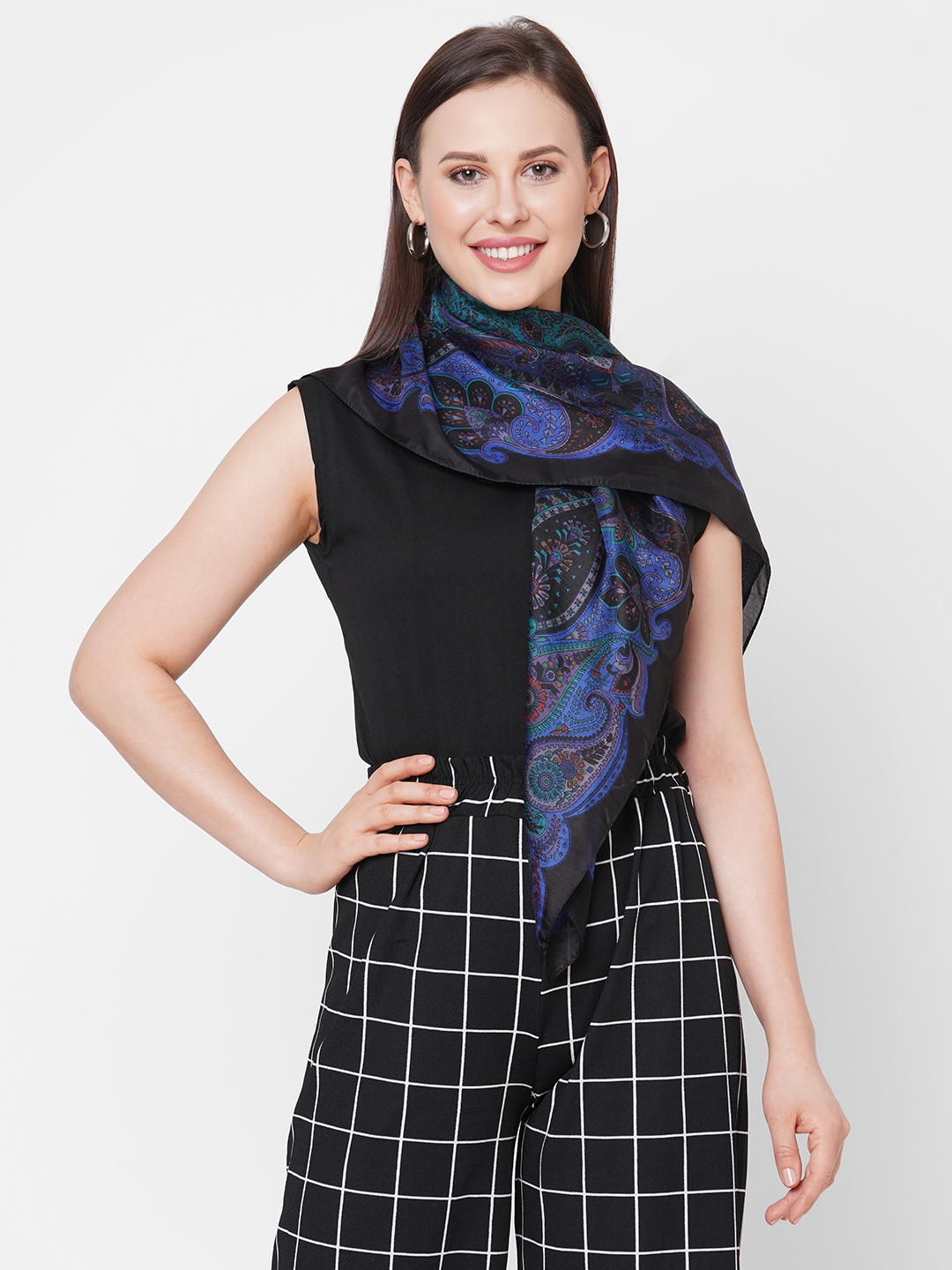 Get Wrapped | Get Wrapped Soft Silk Square Scarf For Women
