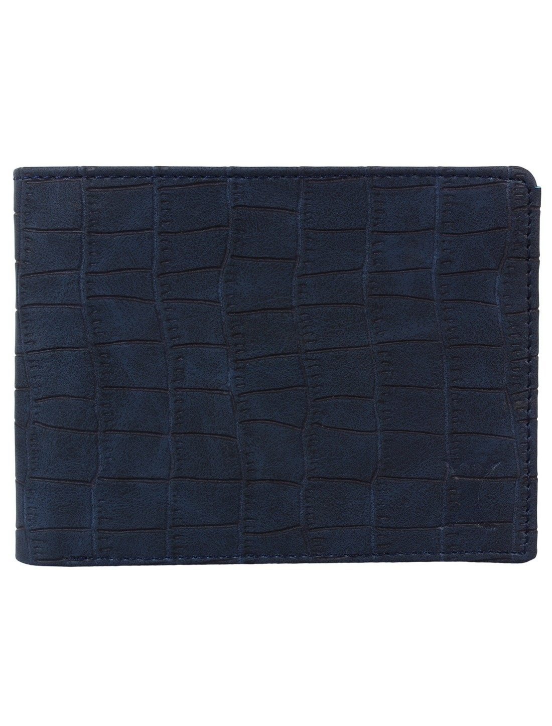 CREATURE   CREATURE Embossed Blue PU Leather Wallet with Zip for Men