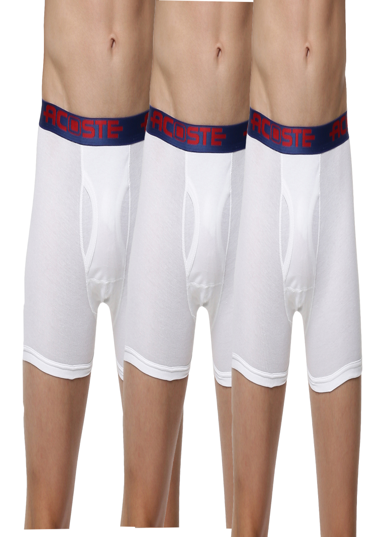 Ramraj Cotton | Ramraj Cotton 100% Soft combed fine jersey fabric White Trunks (Combo 3)