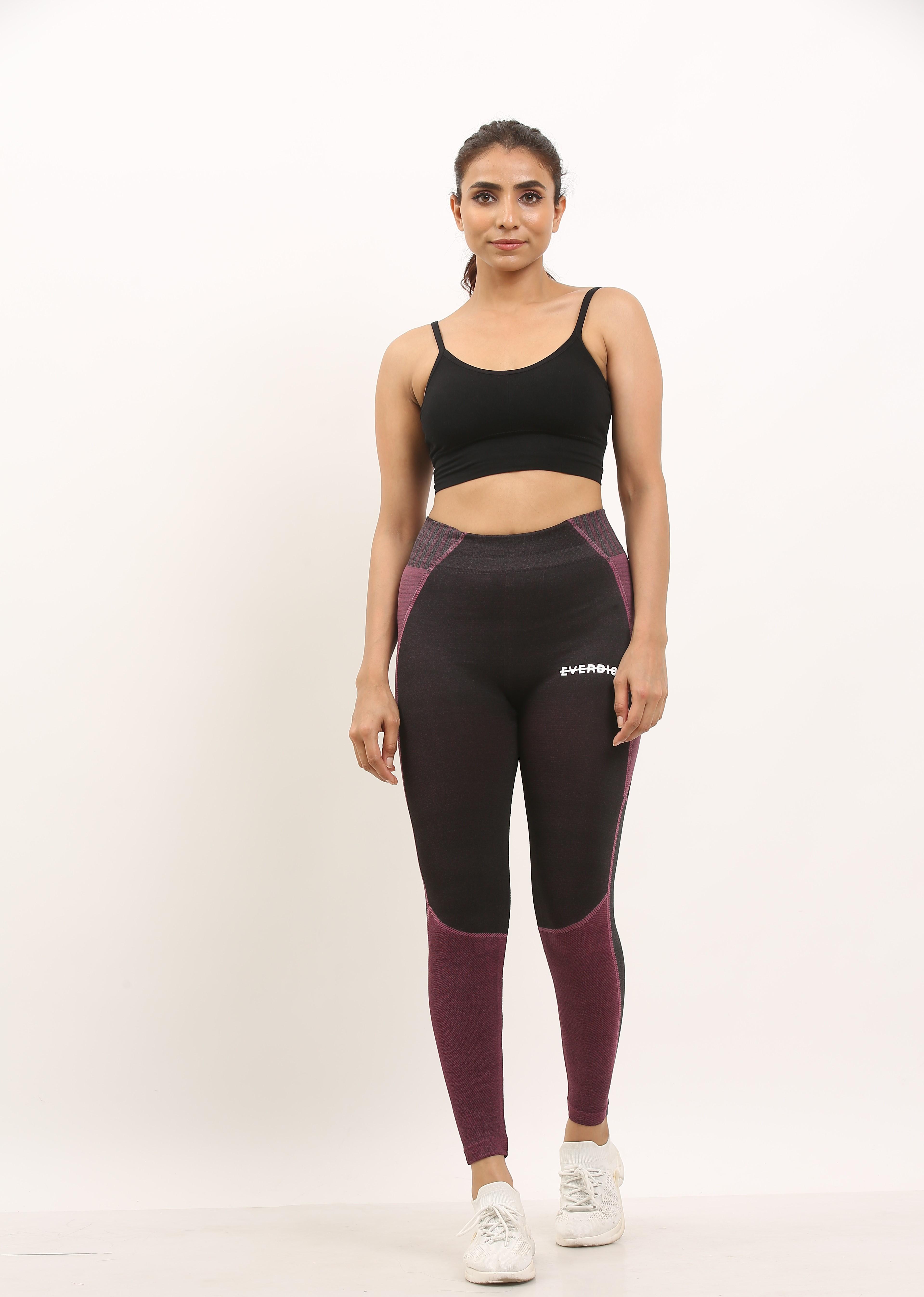 EVERDION | Purple Black Yoga Set