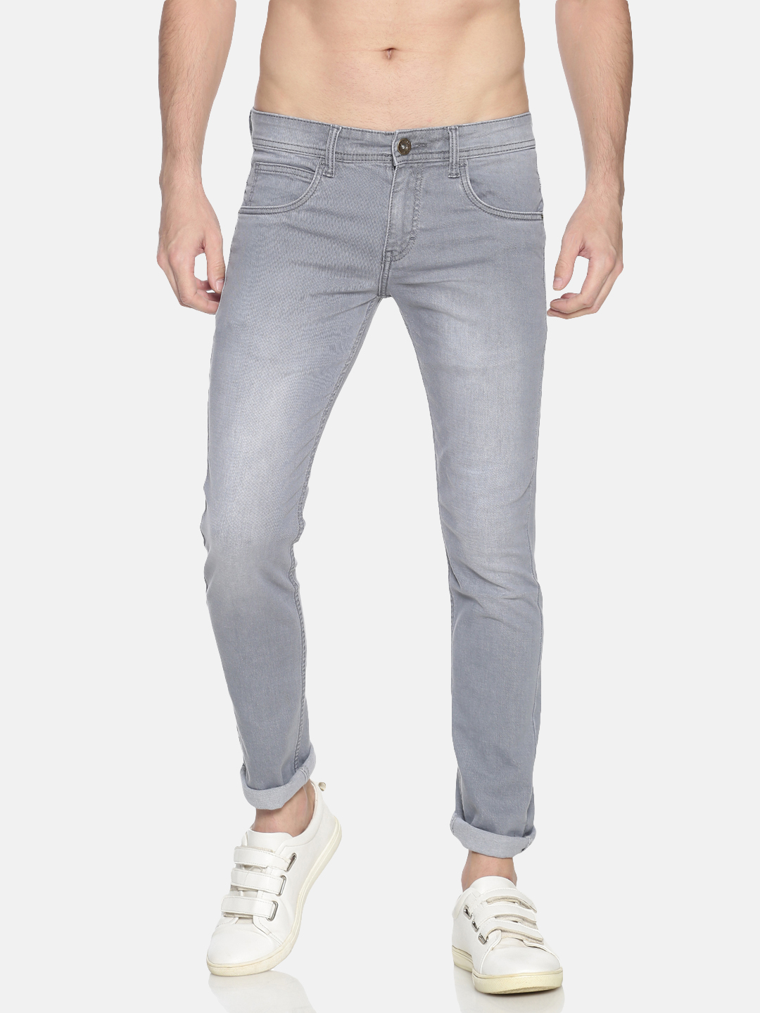 Chennis | Chennis Men's Casual Clean Look Jeans, Grey
