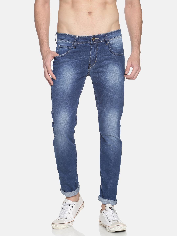 Chennis | Chennis Men's Casual Clean Look Jeans, Blue