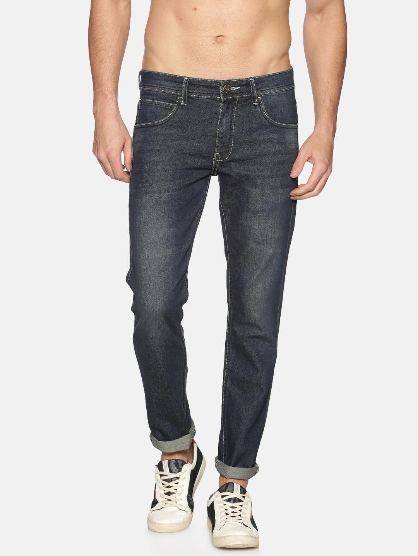 Chennis | Chennis Mens Cotton Slim Fit Casual Blue Jeans