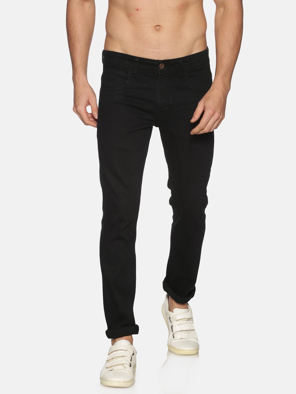 Chennis | Chennis Mens Cotton Slim Fit Casual Black Jeans