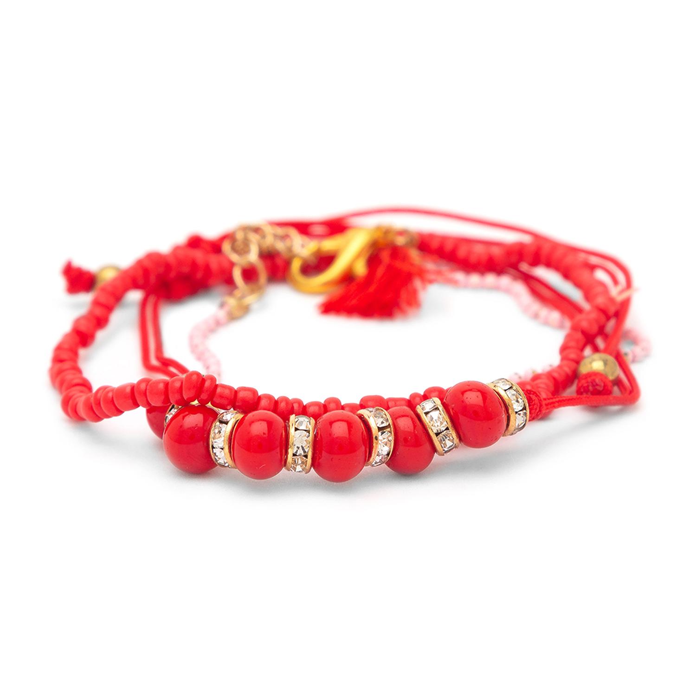 globus | Globus Gold and Red Clasp Bracelet