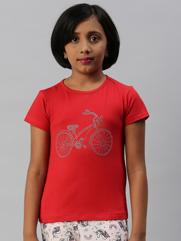 Kryptic | Kryptic Girls 100% Cotton printed tshirt