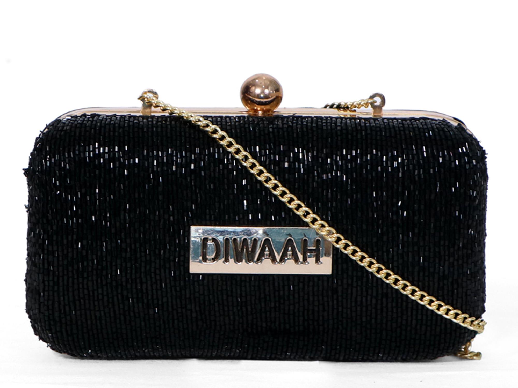 DIWAAH | Diwaah Black Color Party Clutch