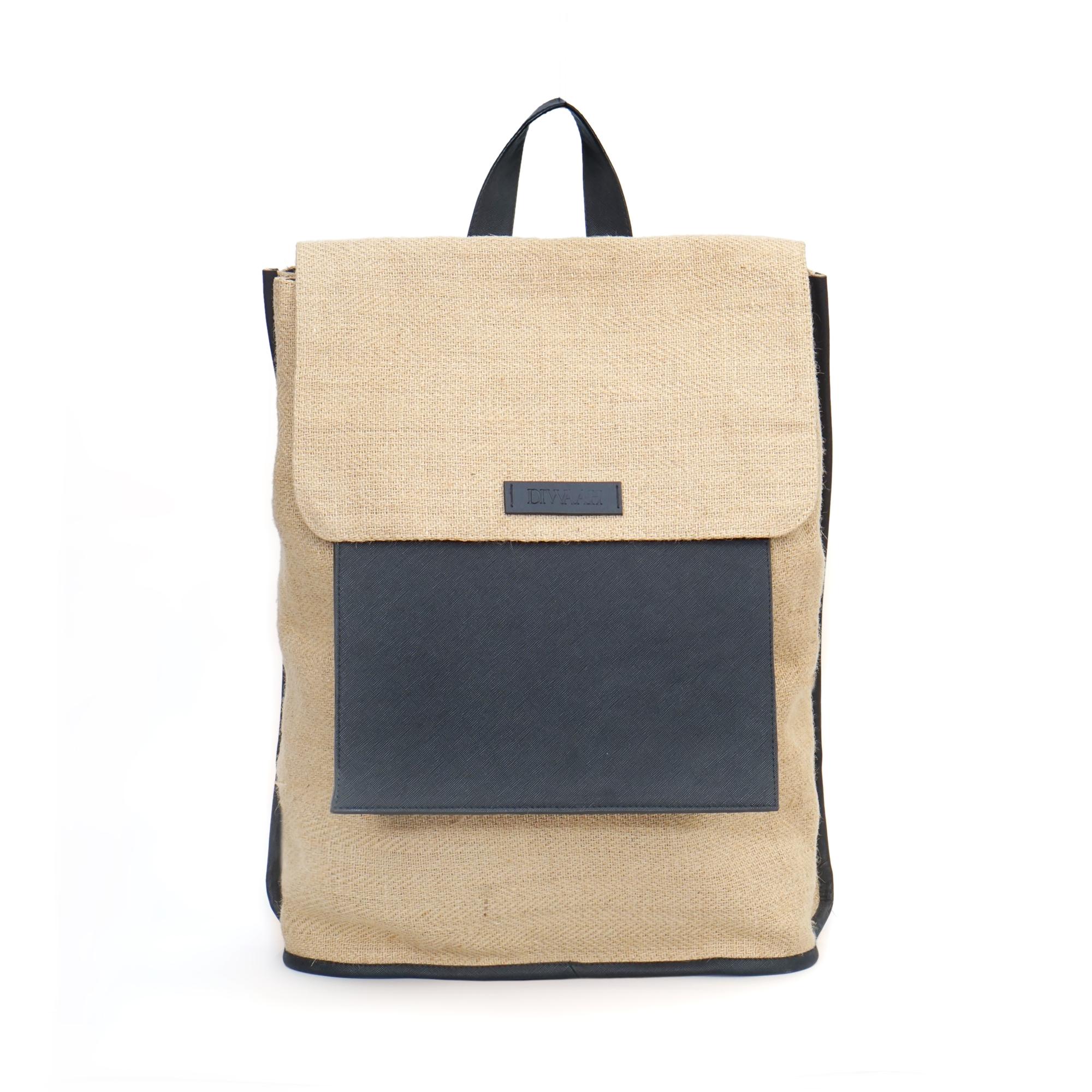 DIWAAH | Diwaah Beige Color Casual Backpack