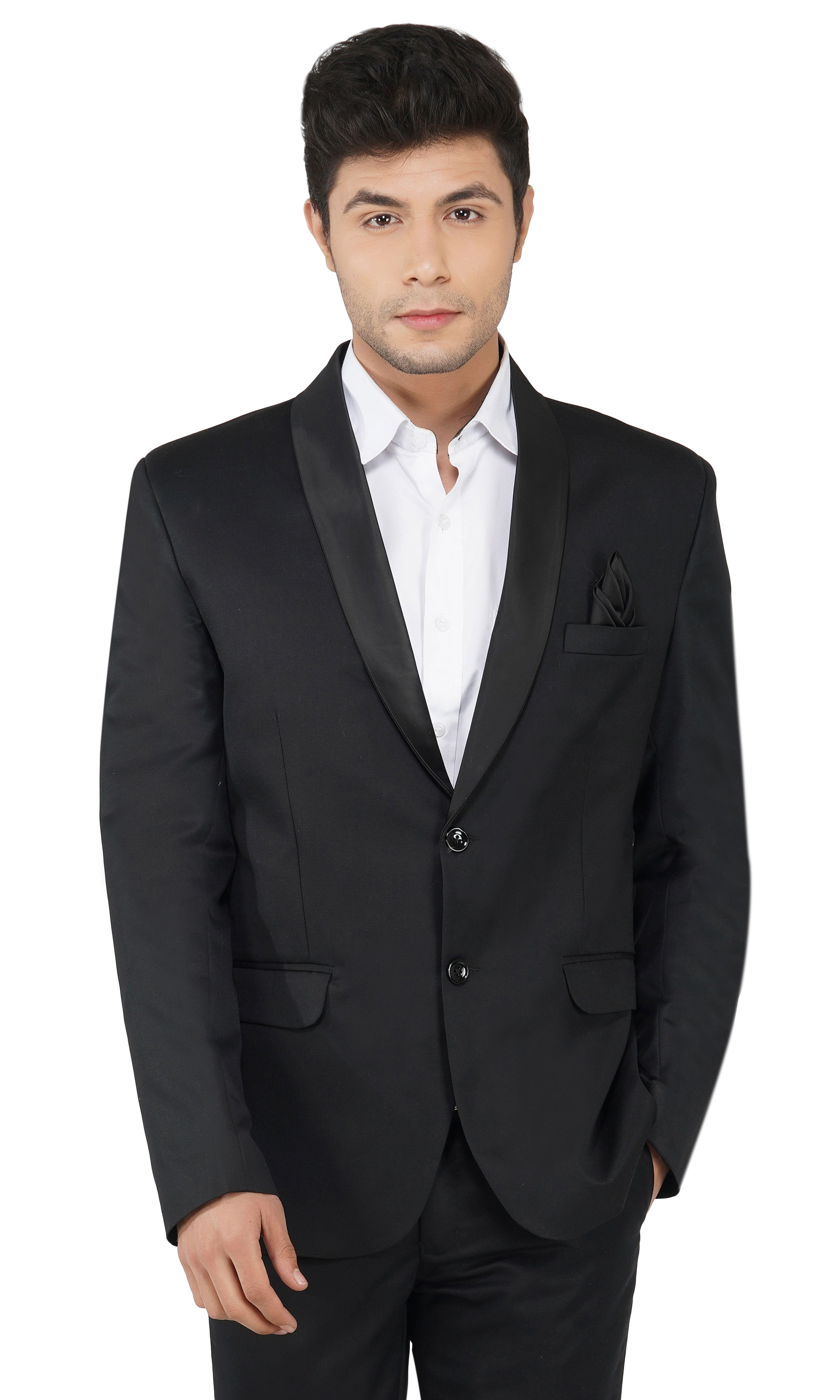 TAHVO | Black Tuxedo Blazer For Men
