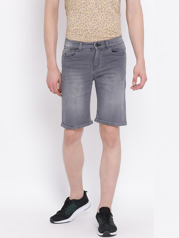 Crimsoune Club | Grey Solid Shorts