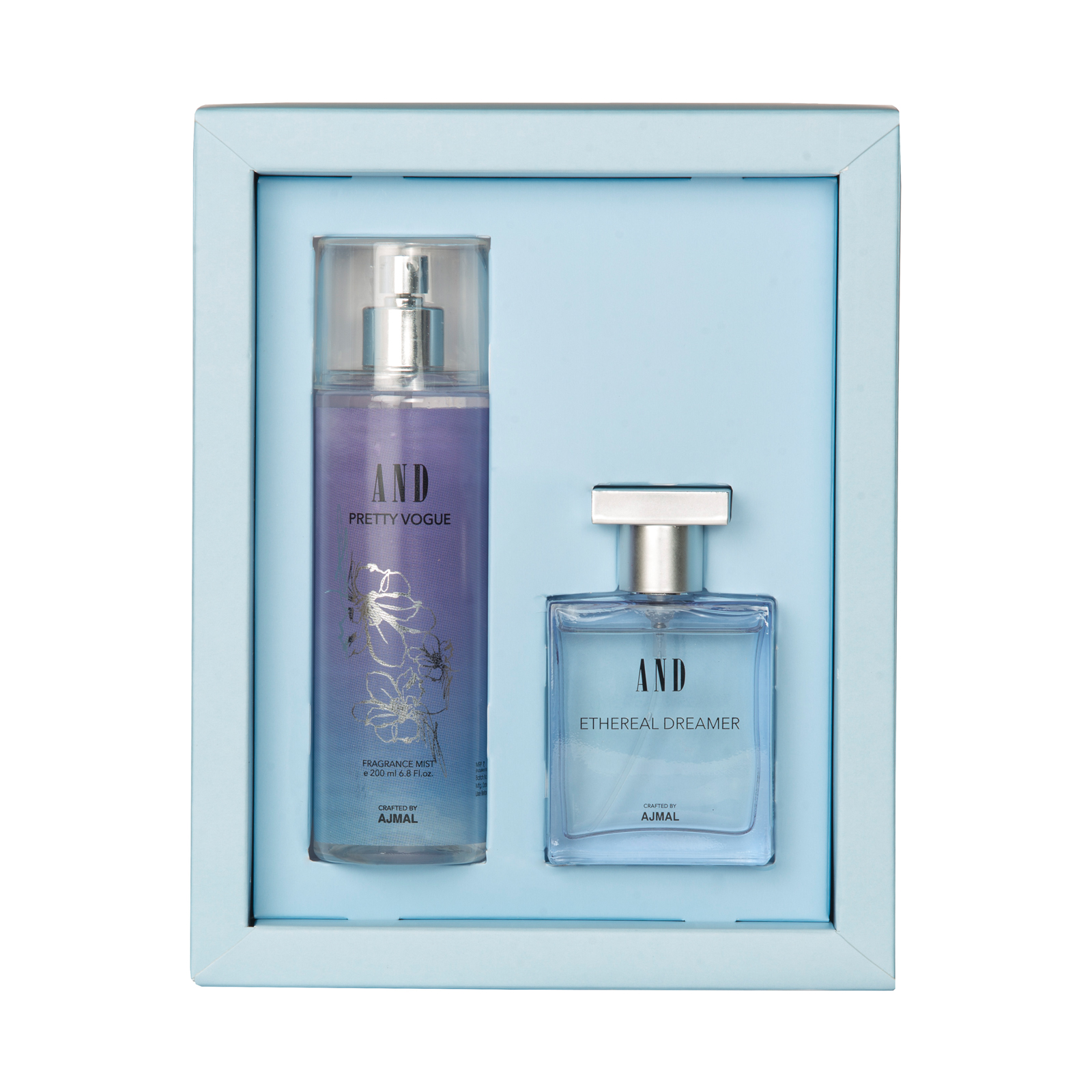 AND Crafted By Ajmal | AND Ethereal Dreamer Eau De Parfum 50ML & Pretty Vogue Body Mist 200ML for Women Crafted by Ajmal