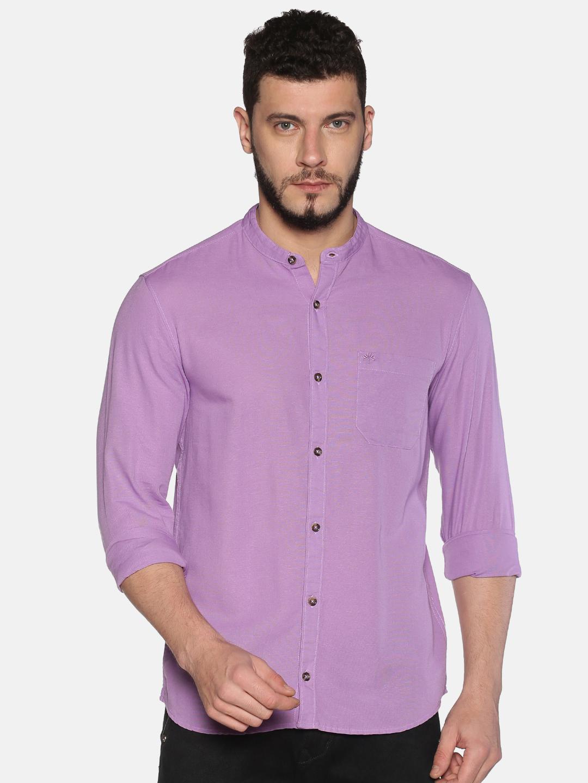 Chennis | Chennis Men Casual Violet Shirts