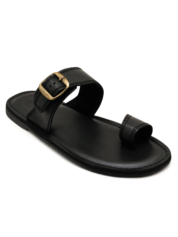 Trends & Trades   Mens  Black Toe Loop  Sandals
