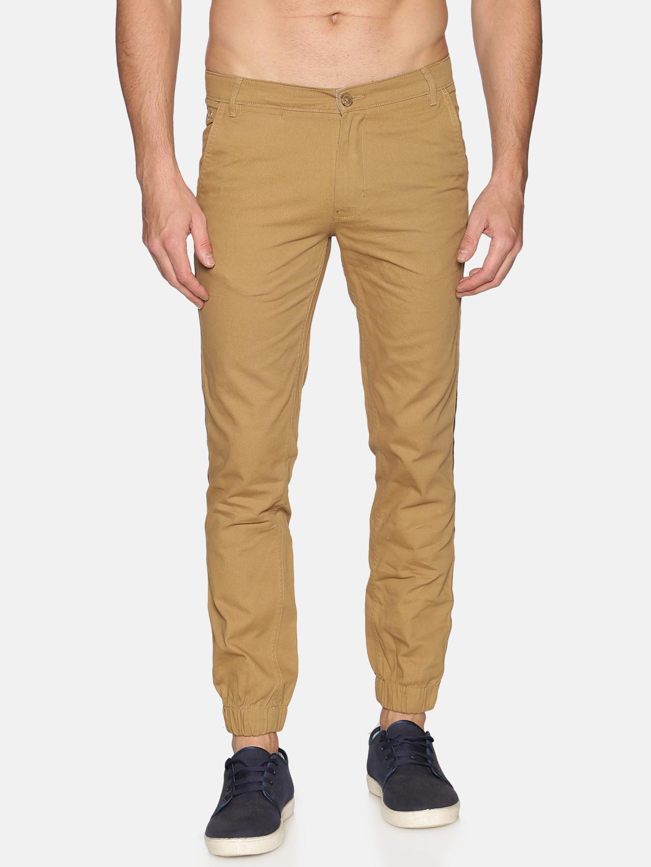 Chennis | Chennis Men Cotton Casual Khaki  Trousers