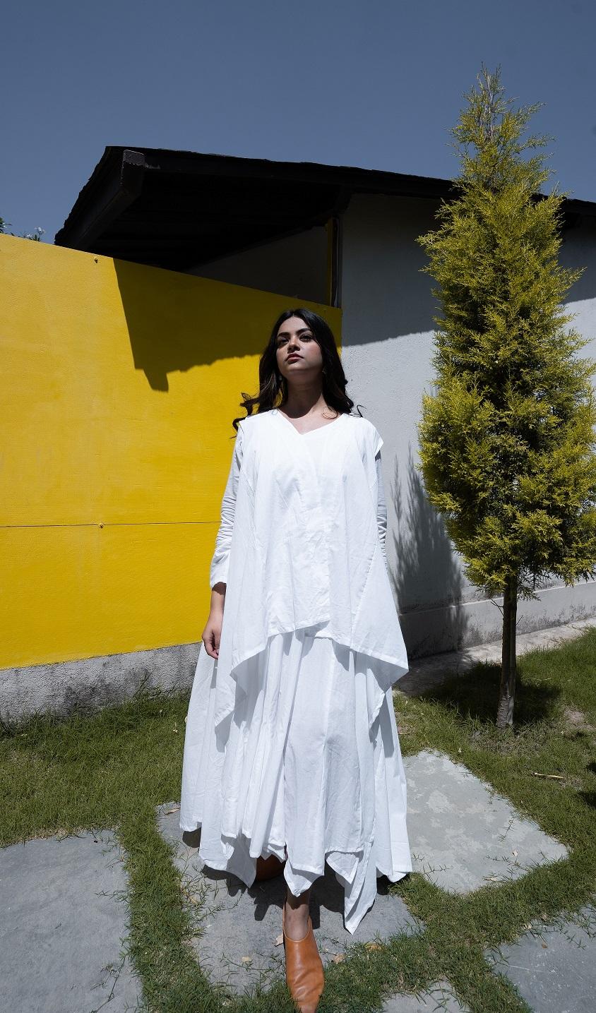 OurDve | MOCKING BRID DRESS WITH JACKET WHITE