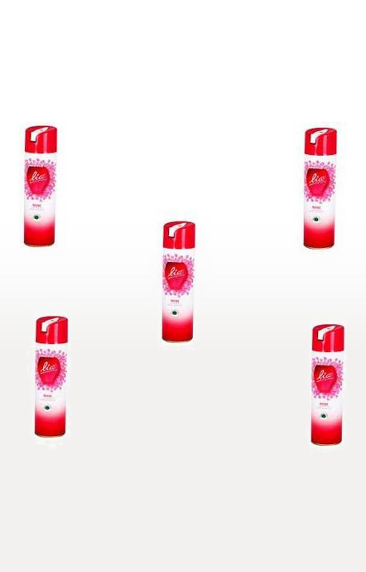 Lia Room & Car Freshener | Lia Room Freshner ROSE Spray (5*160g)