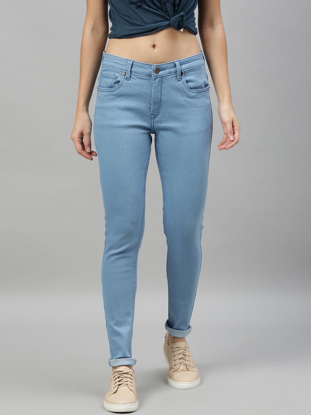 Enviously Young | Enviously Young Mid Rise Ice Blue Jeans