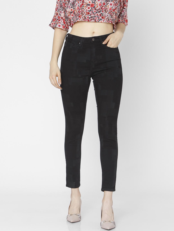 Spykar | Spykar Black Cotton Women Jeans (Alicia)